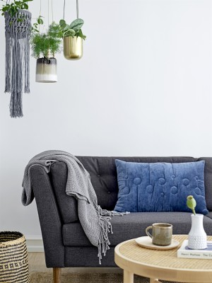 Pause Sofa, Grey, Polyester