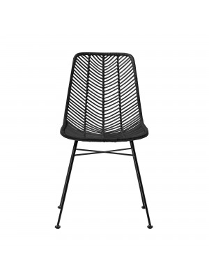 Lena Chair, Black, Rattan
