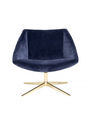 Elegant Chair, Blue, Polyester