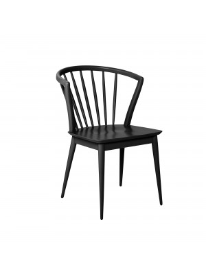 Laura Dining Chair, Black, Rubberwood