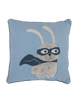 Cushion, Blue, Cotton