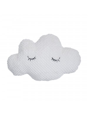 Star Cushion, White, Polyester