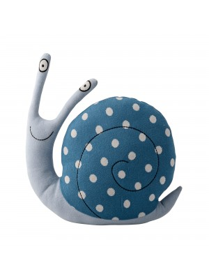 Knitted Snail, Blue, Cotton