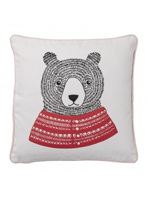 Cushion, White, Cotton