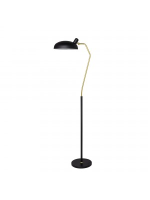 Floor Lamp, Black, Metal