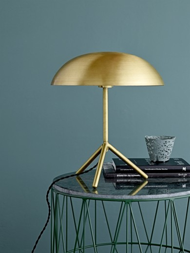 Table lamp, Gold, Metal