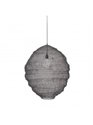 Pendant Lamp, Black, Metal