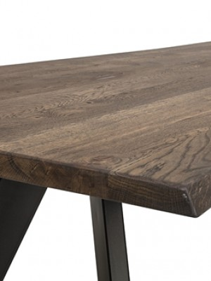 Raw Dining Table, Brown, Oak