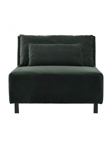 SOFA W. 2 CUSHIONS, BOX, BELUNGA GREEN
