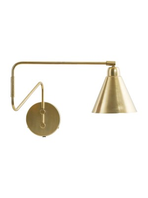 WALL LAMP, GAME, BRASS/WHITE
