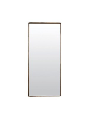 MIRROR, REFLECTION, ANTIQUE BRASS PLATED