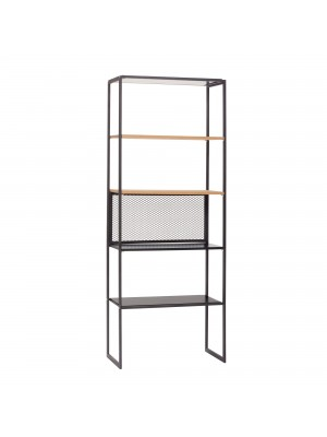 Shelf w/5 shelves, metal/cork