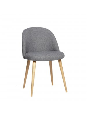 Chair w/wooden legs, grey