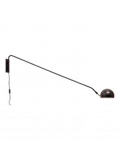 Wall lamp, metal, black
