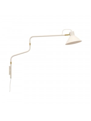 Wall lamp, white/gold