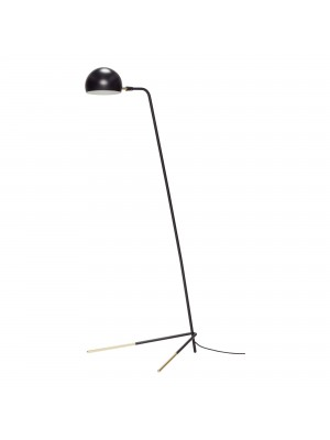 Floor lamp, metal, black/brass