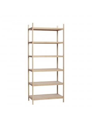 Shelf w/6 shelves, oak