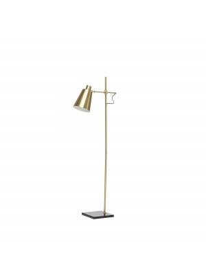 Floor lamp, brass/black