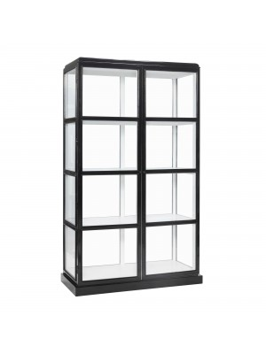Display cabinet, black/white