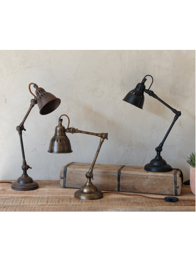 TUBU ANTIQUE BRASS DESK LAMP