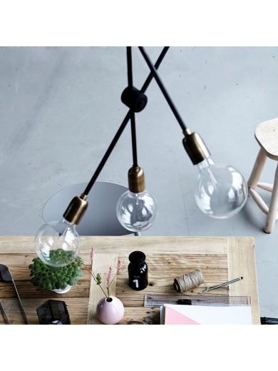 LAMP, MOLECULAR, BLACK/BRASS